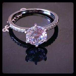 2.0 TCW Swarovski Crystal Engagement Ring